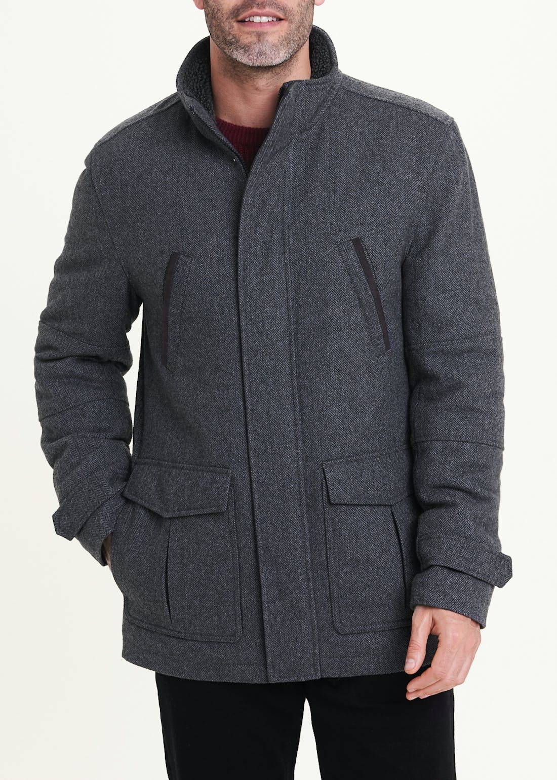 Lincoln Grey Wool Coat