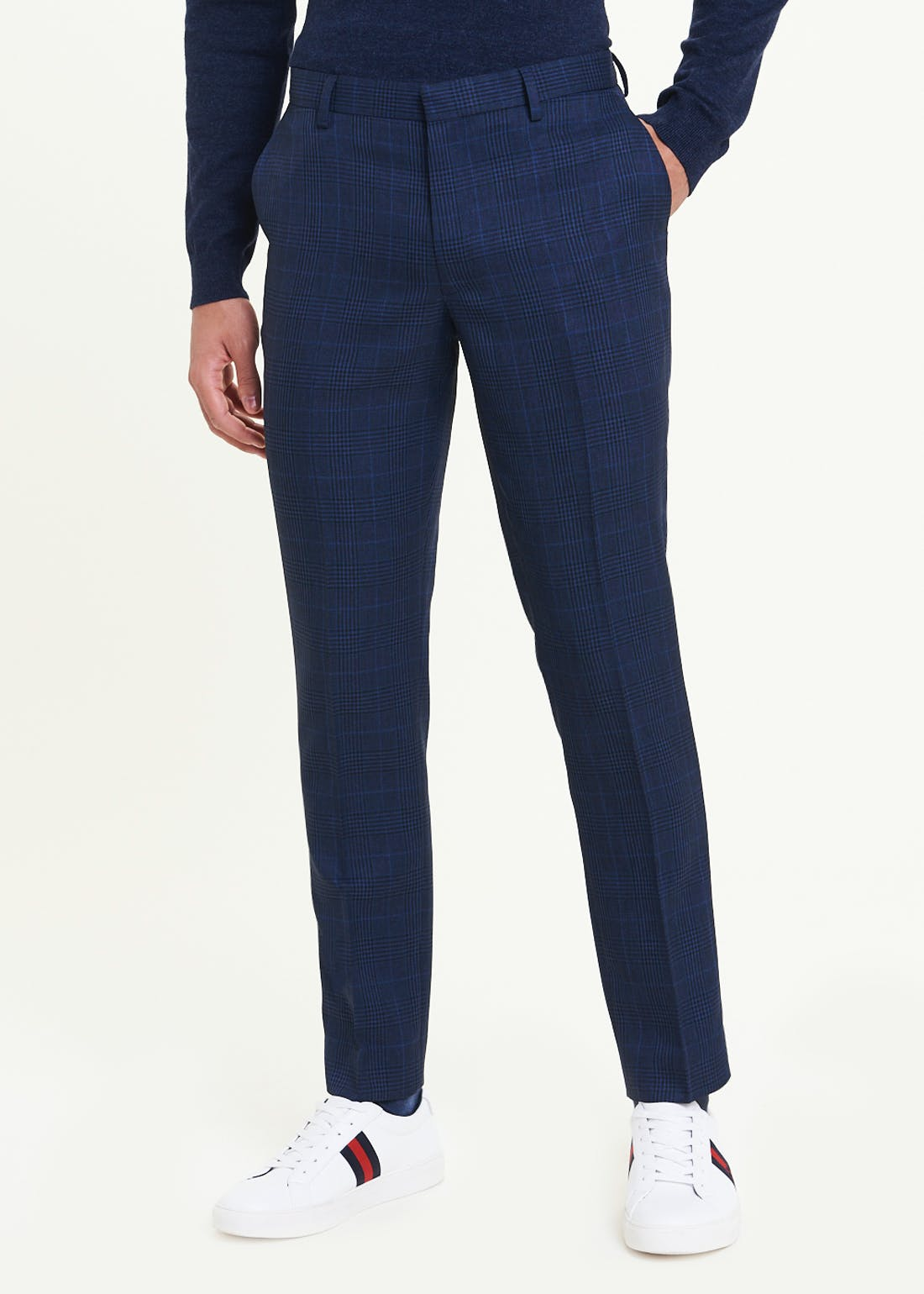 Taylor & Wright Huntley Slim Fit Check Trousers