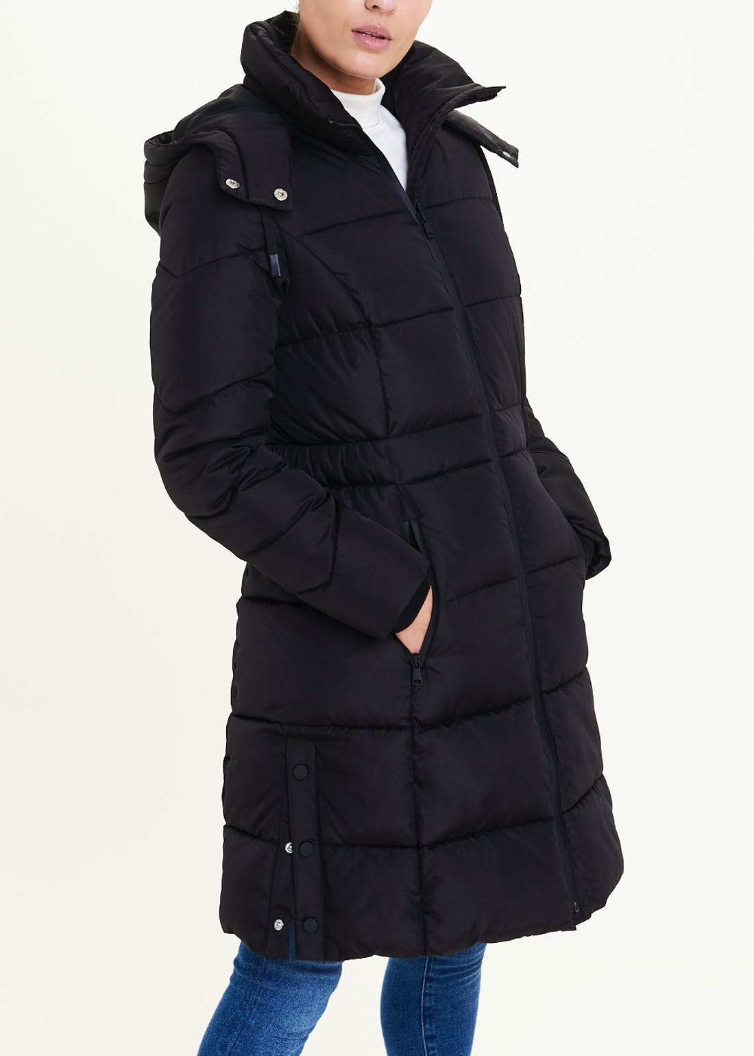 Black Long Padded Coat