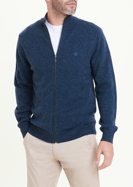 Lincoln Lambswool Zip Up Jumper