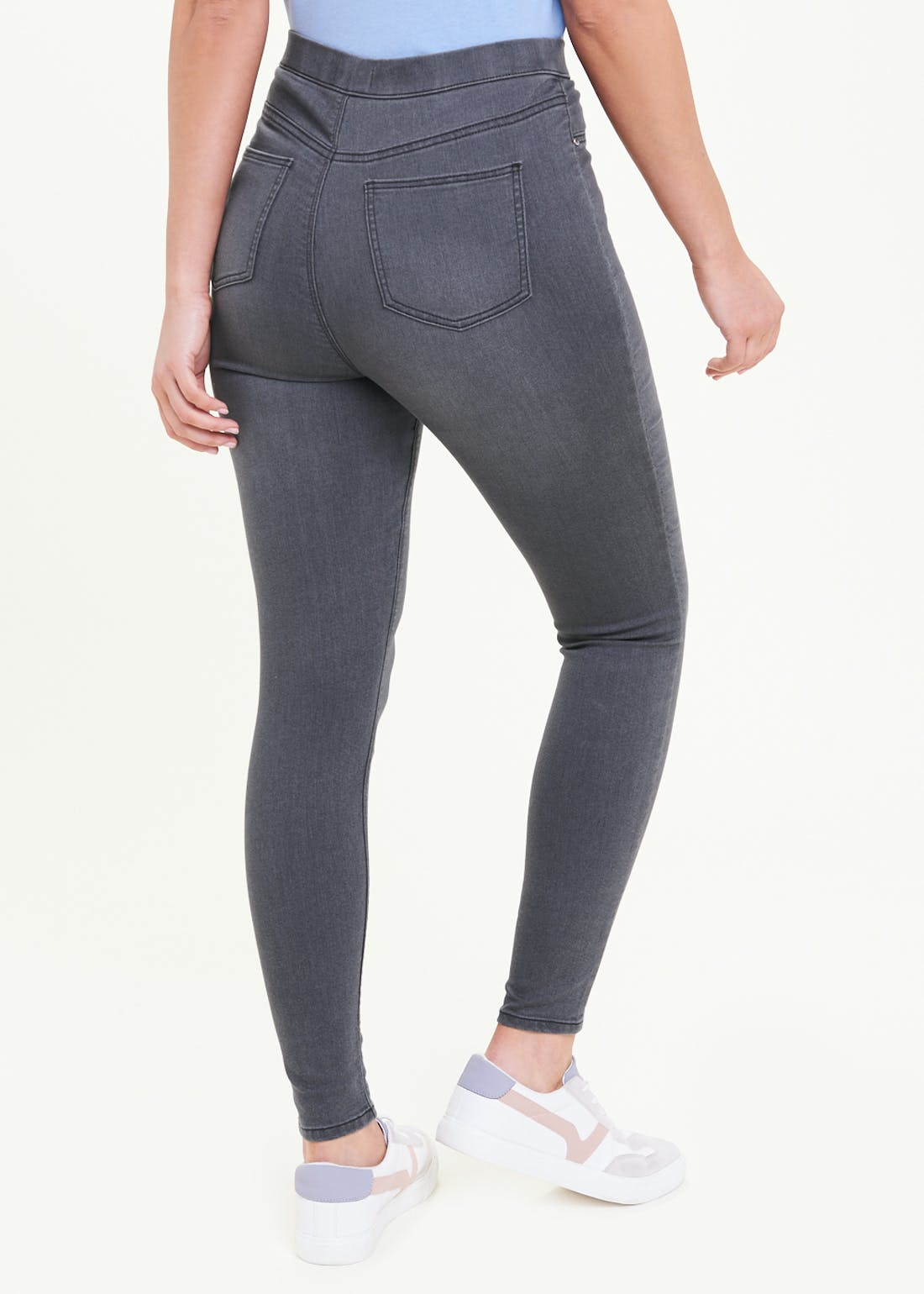 Rosie Dark Grey Pull On Jeggings