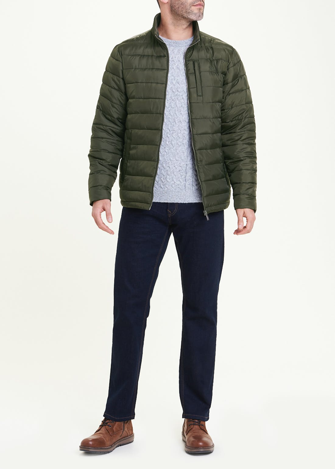 Lincoln Khaki Quilted Puffer Jacket