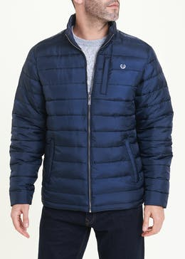 Lincoln Navy Quilted Puffer Jacket