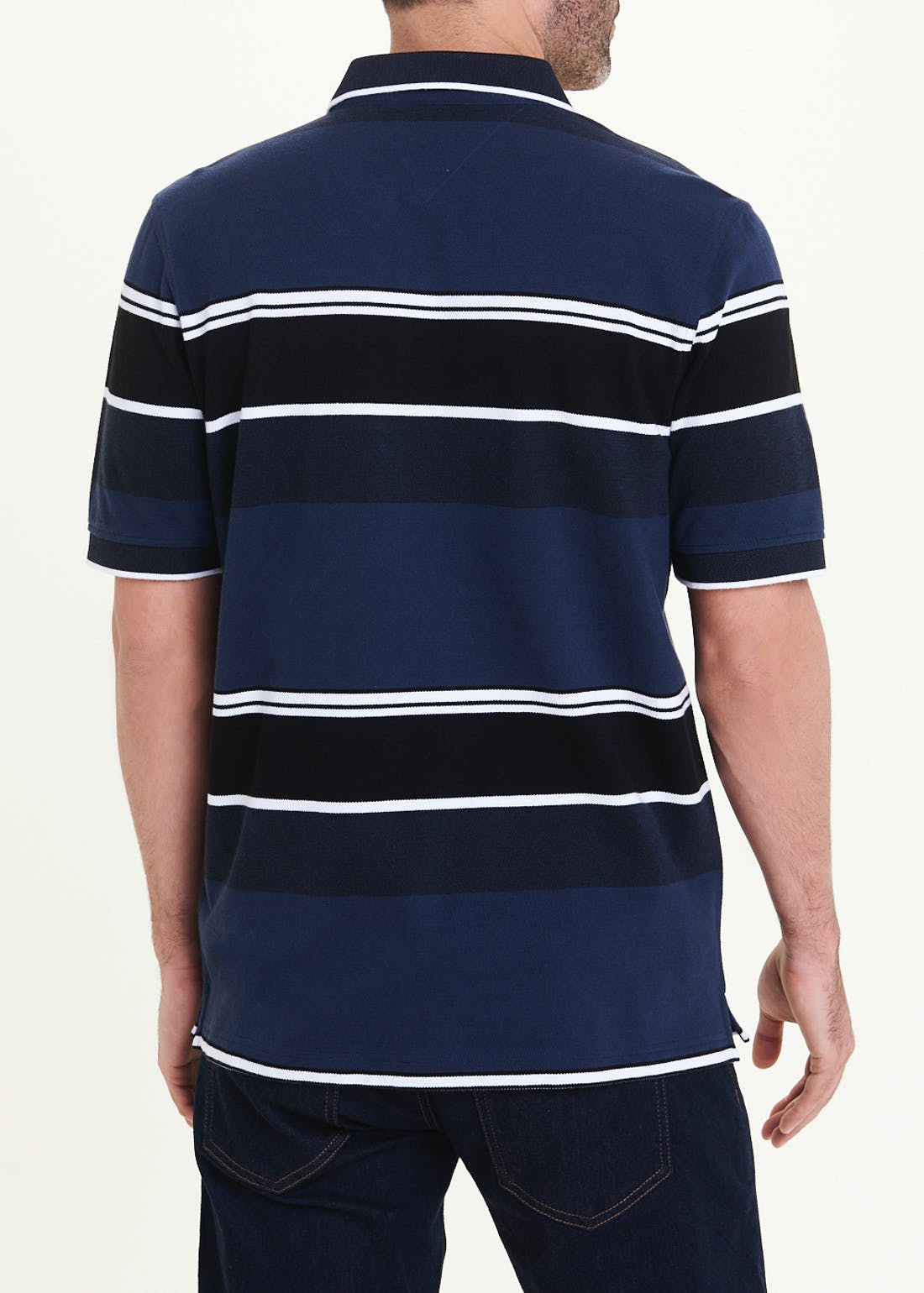 Lincoln Oxford Stripe Polo Shirt
