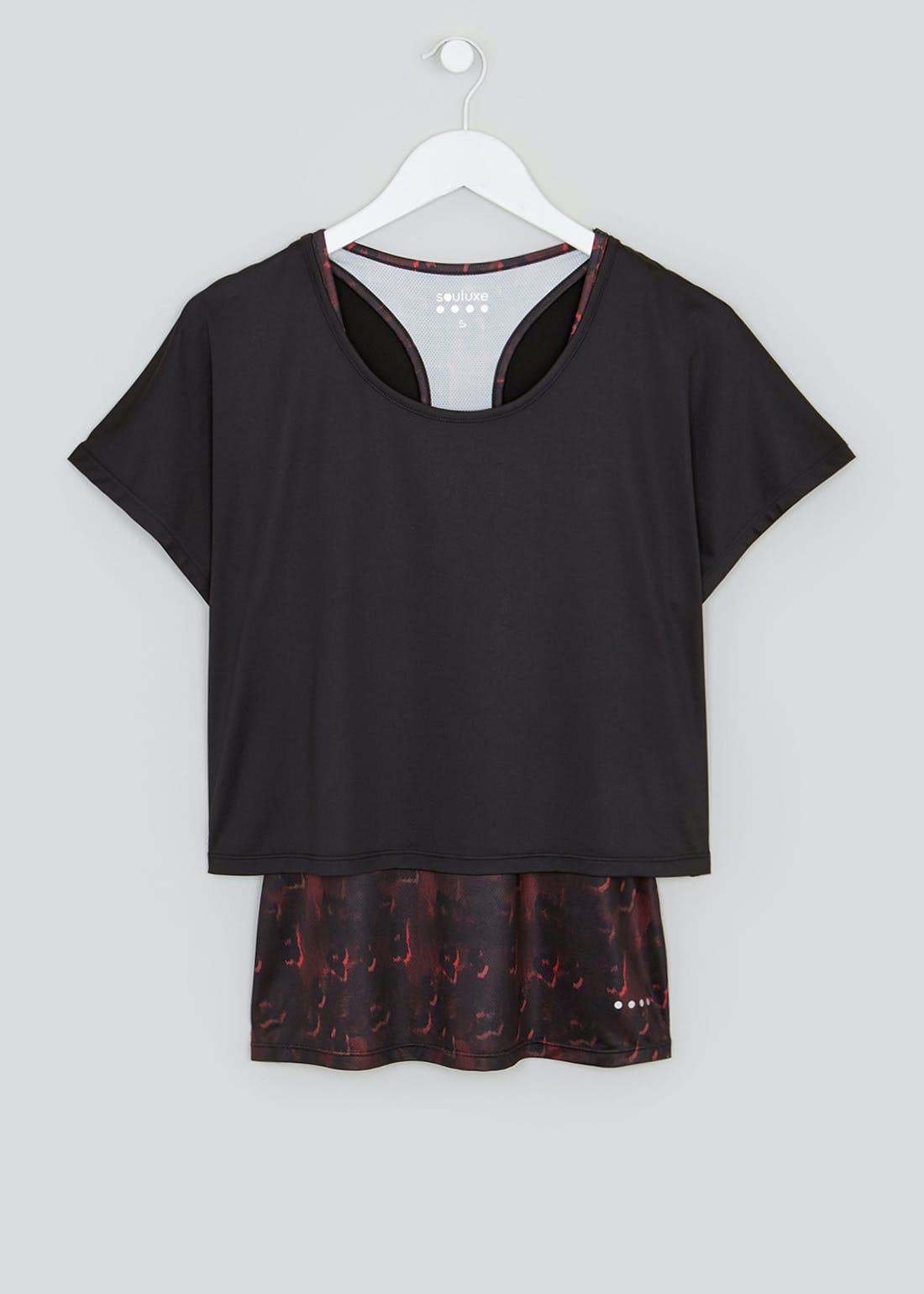 Souluxe 2-in-1 Ombre Animal Print Gym Top