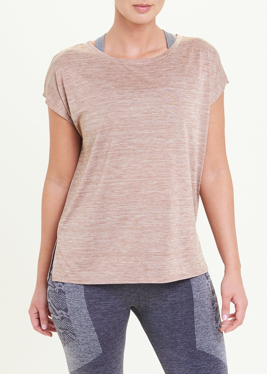 Souluxe Beige Slouch Gym T-Shirt