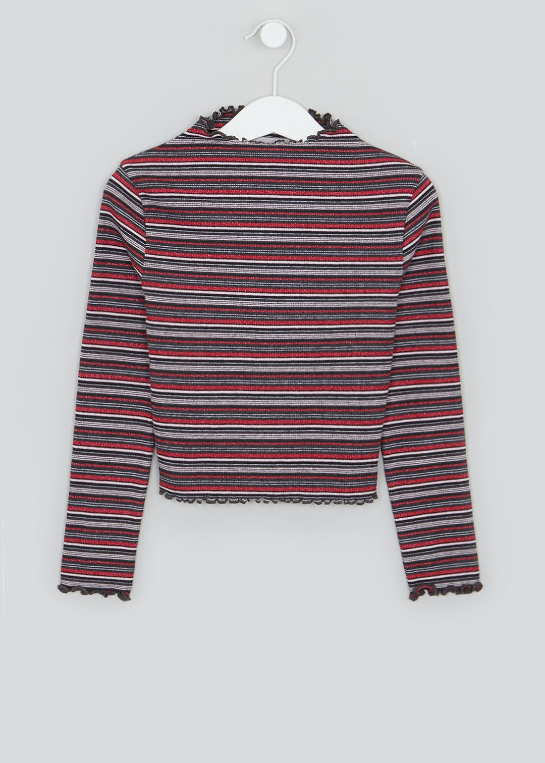 Girls Stripe Ribbed Top (4-13yrs)