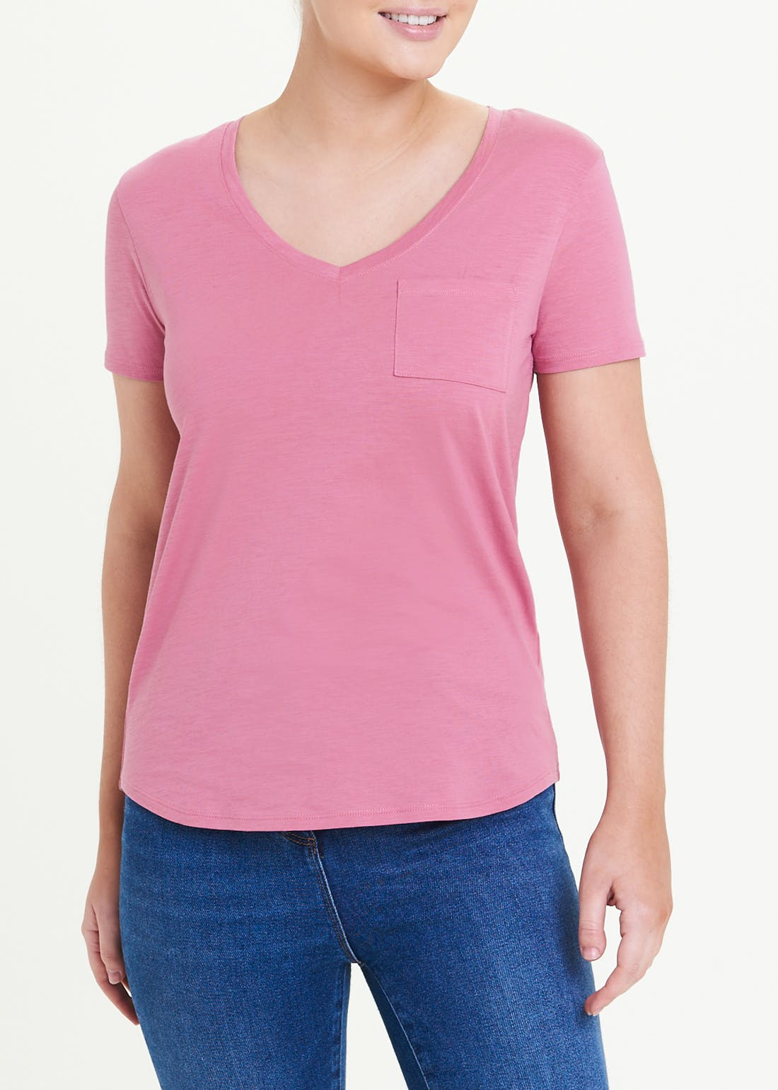 Modern Basic V-Neck T-Shirt