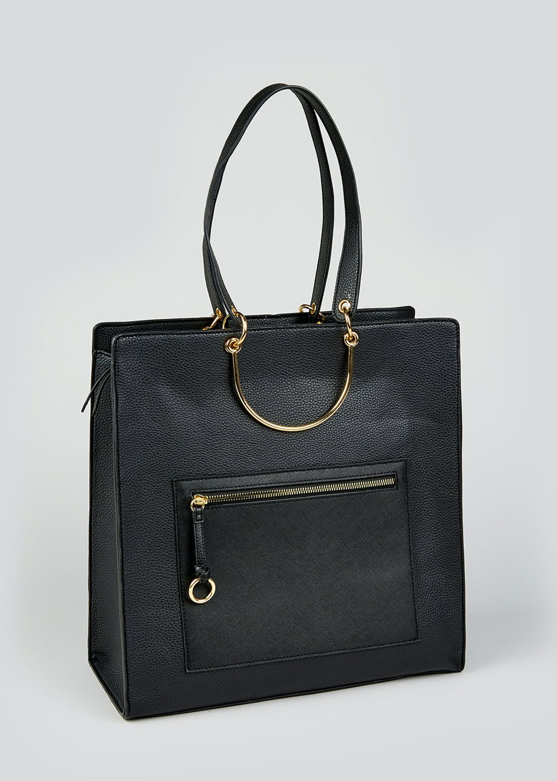 Gold Trim Tote Bag (36cm x 35cm x 14cm)