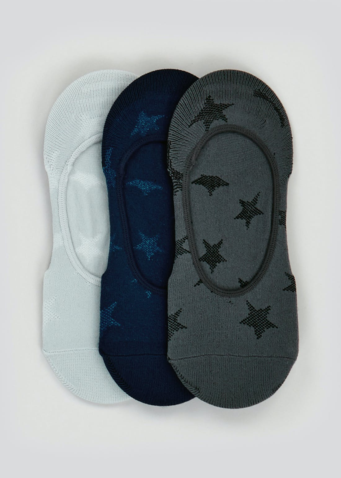 3 Pack Star Invisible Trainer Socks