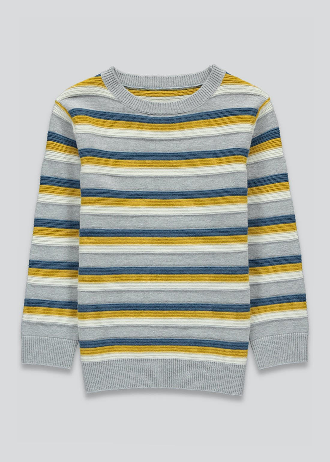 Boys Crew Neck Stripe Jumper (9mths-6yrs)