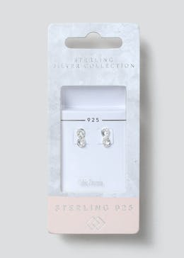 Sterling Silver Rhinestone Stud Earrings