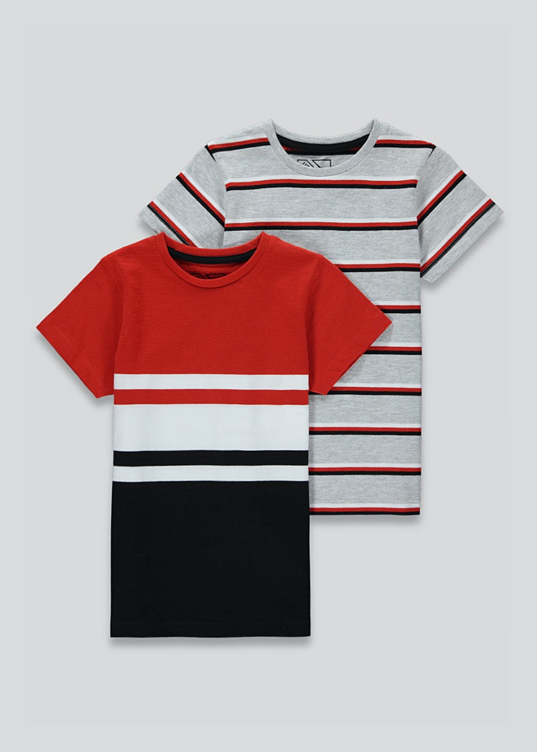 Boys 2 Pack Stripe T-Shirts (4-13yrs)