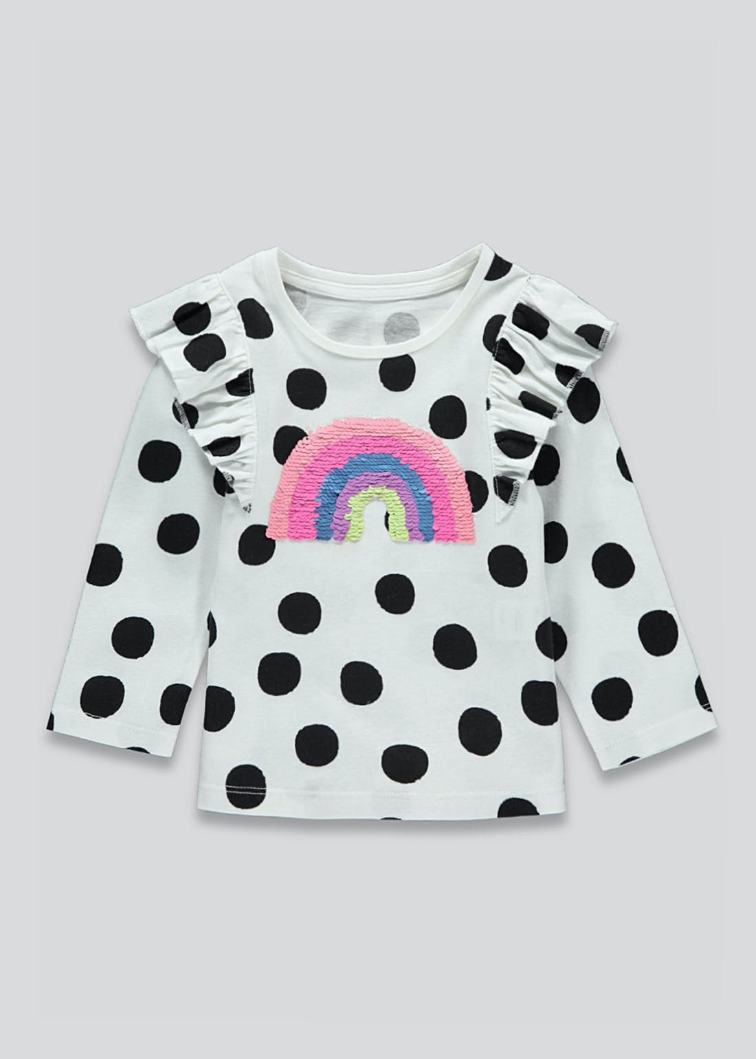 Girls Two Way Sequin Rainbow T-Shirt (9mths-6yrs)