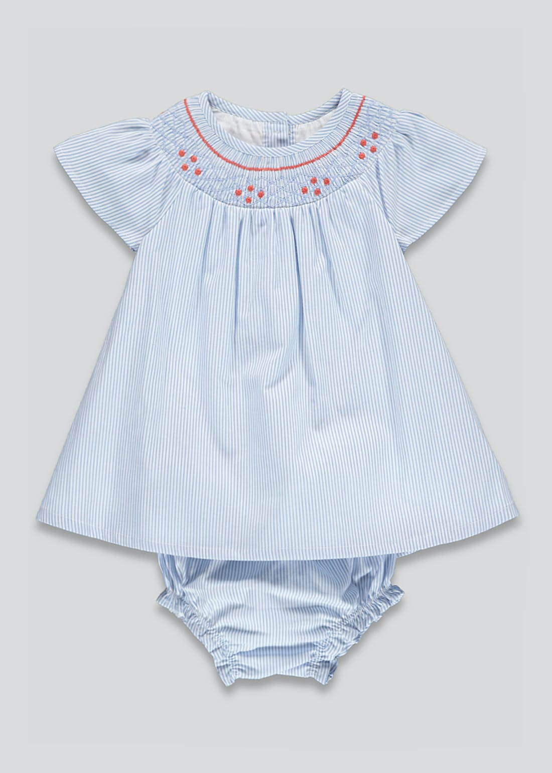 Girls Smocked Dress & Knickers Set (Newborn-23mths)