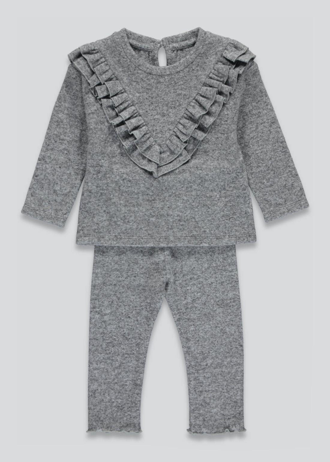 Girls Frill Lounge Set (9mths-6yrs)