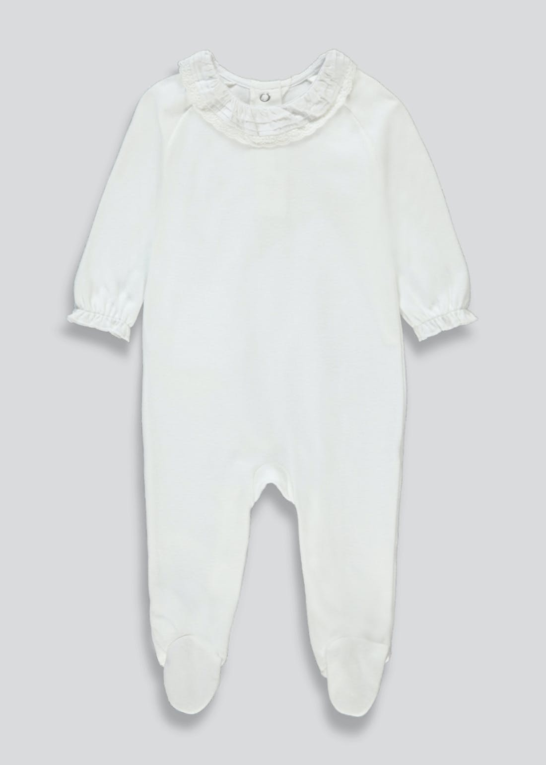 Unisex Frill Detail Baby Grow (Tiny Baby-9mths)