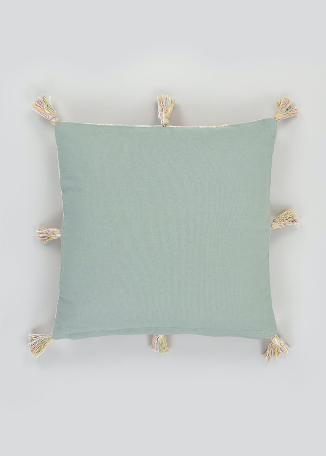 Check Tassel Cushion (46cm x 46cm)