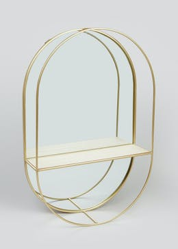 Lozenge Mirrored Shelf (60cm x 40cm x 12cm)