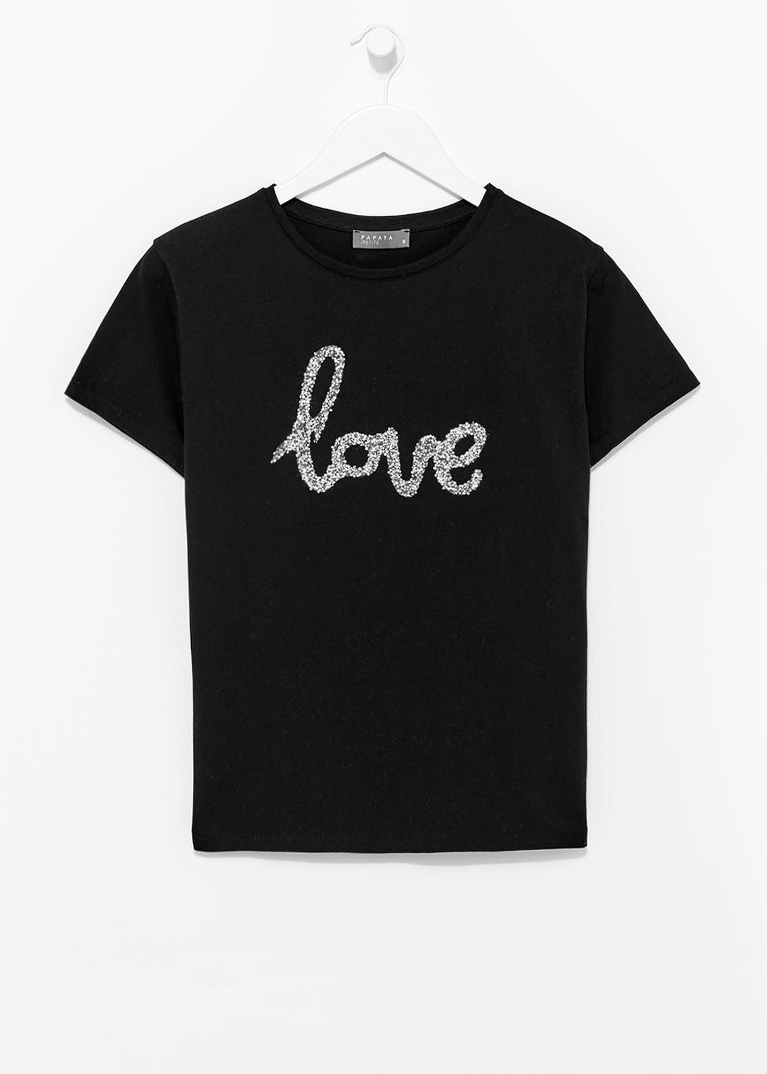 Papaya Petite Love Slogan T-Shirt