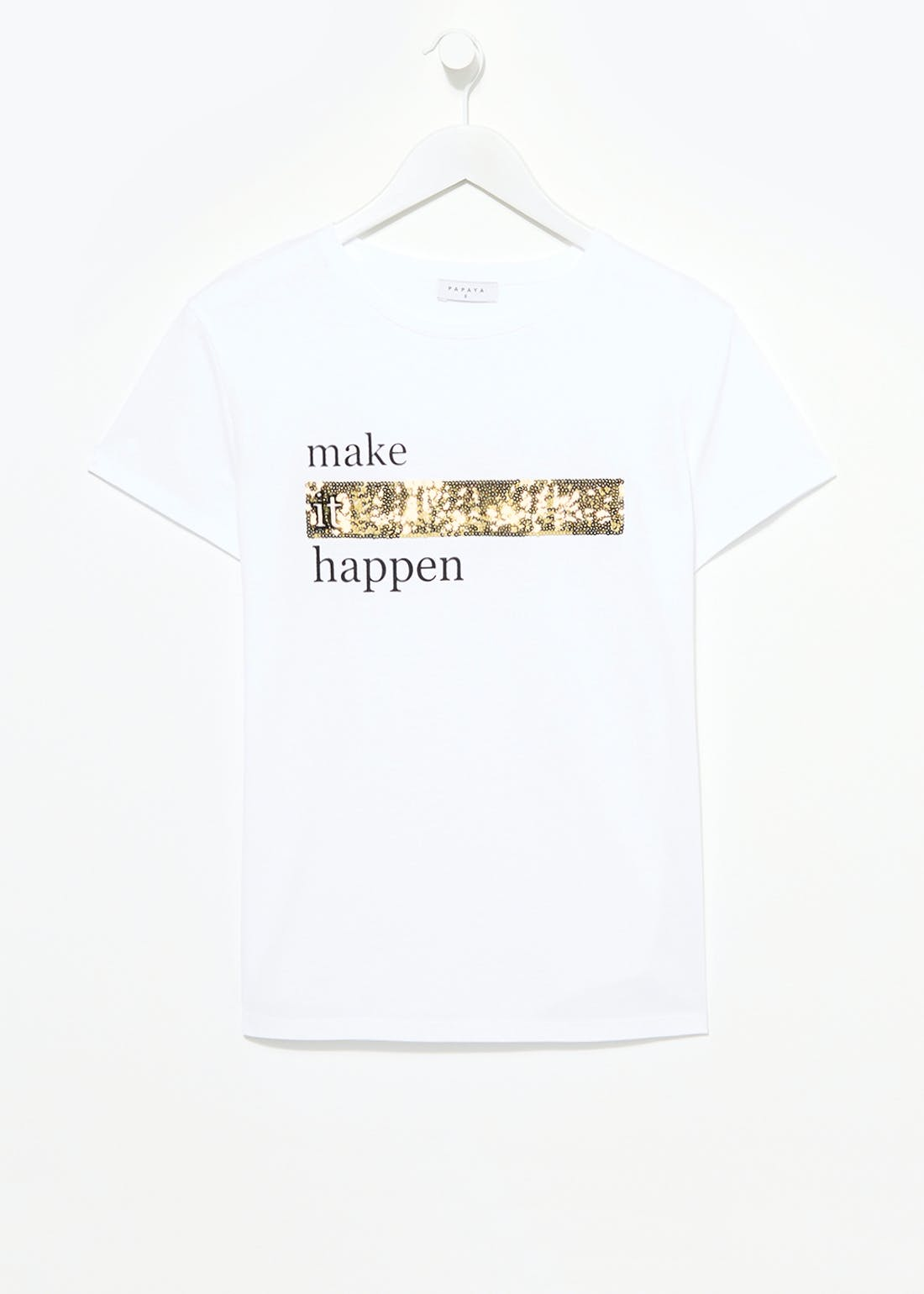 Sparkle Slogan T-Shirt