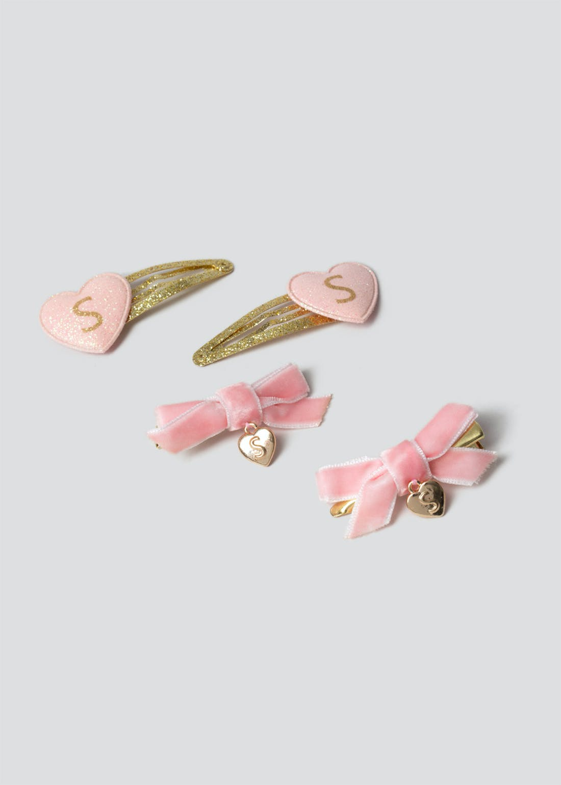Girls S Initial Hair Clips