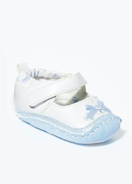 Girls Moccasin Soft Sole Baby Shoes (Newborn-18mths)