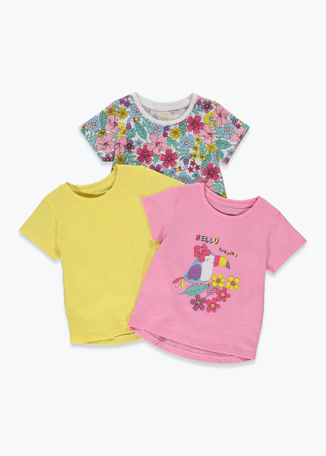 Girls 3 Pack Floral Tops (9mths-6yrs)