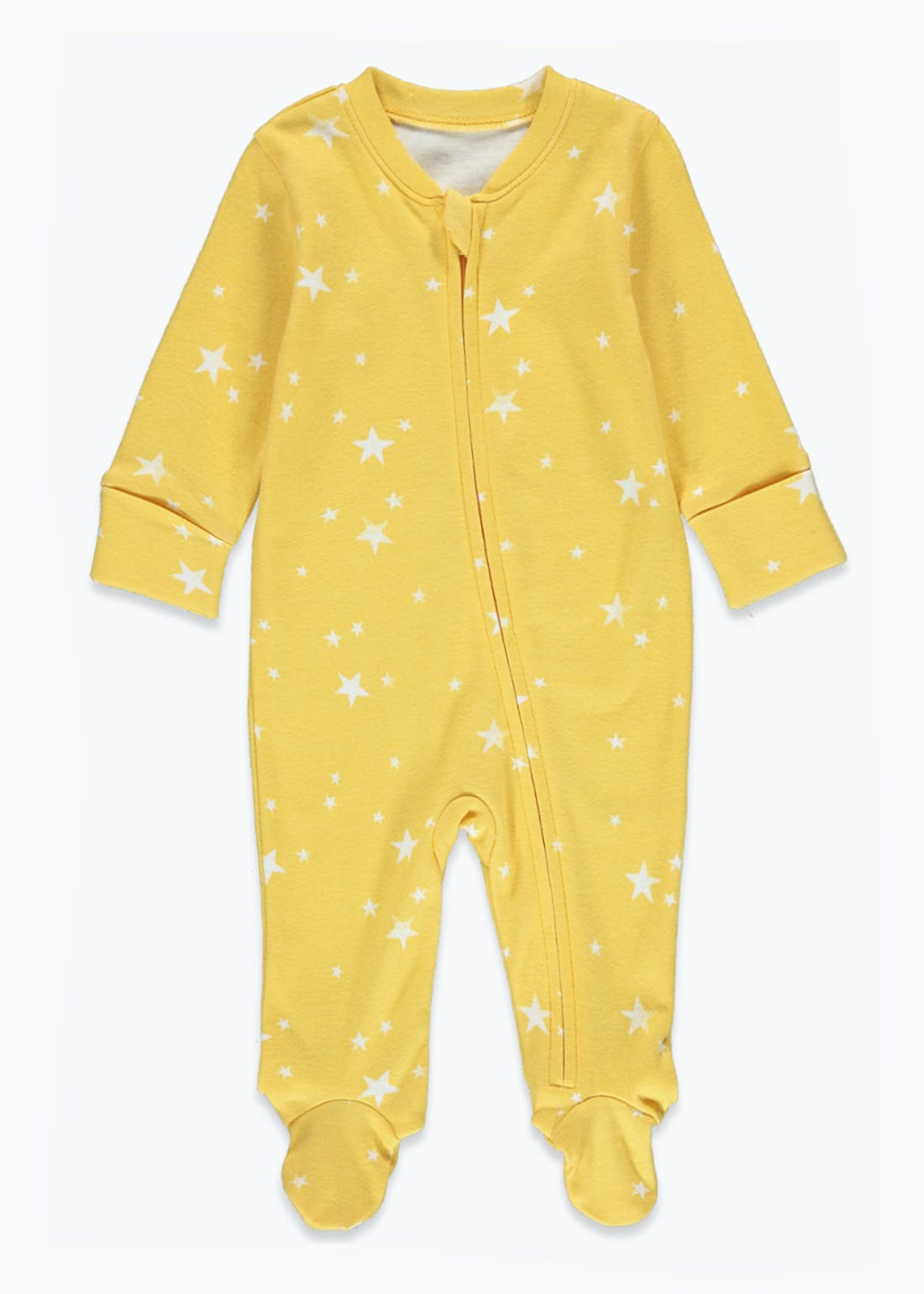 Unisex Star Zip Up Baby Grow (Tiny Baby-9mths)