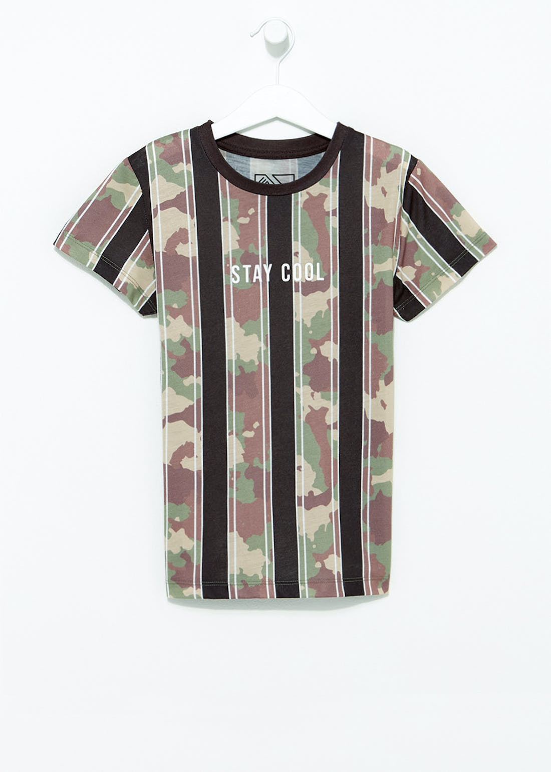 Boys Stay Cool Camo T-Shirt (4-13yrs)