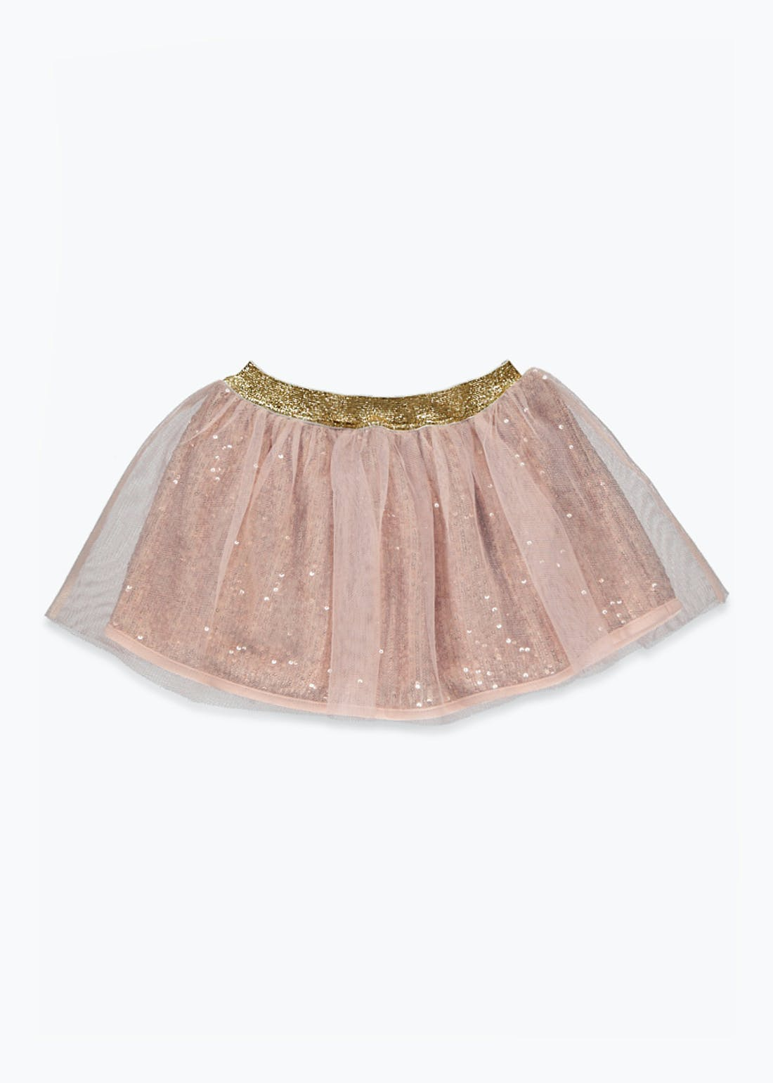 Girls Rose Gold Sequin Tutu Skirt (9mths-6yrs)