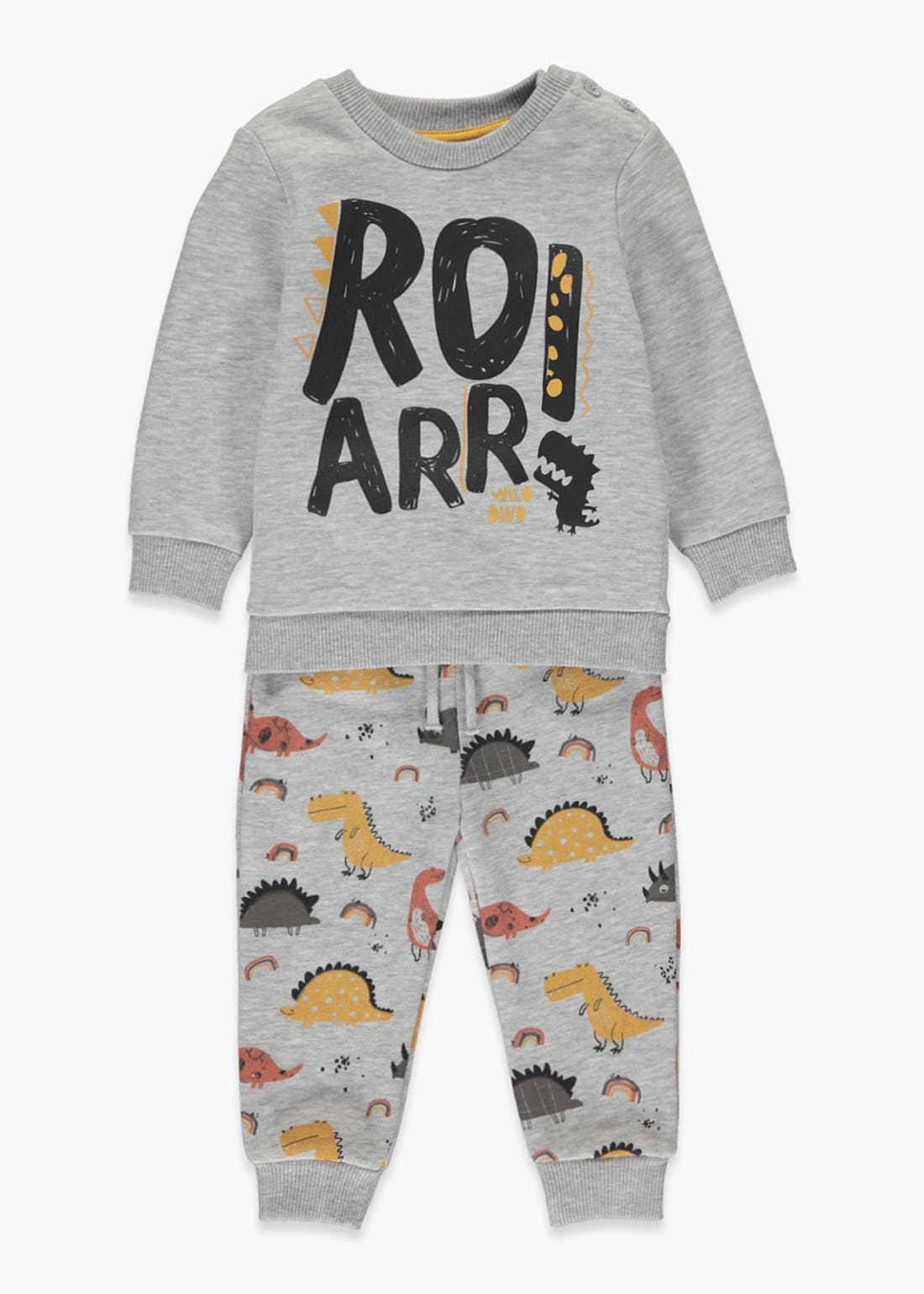Unisex Dinosaur Sweatshirt Set (9mths-6yrs)