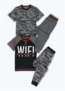 Kids 2 Pack Wifi Pyjamas (4-13yrs)