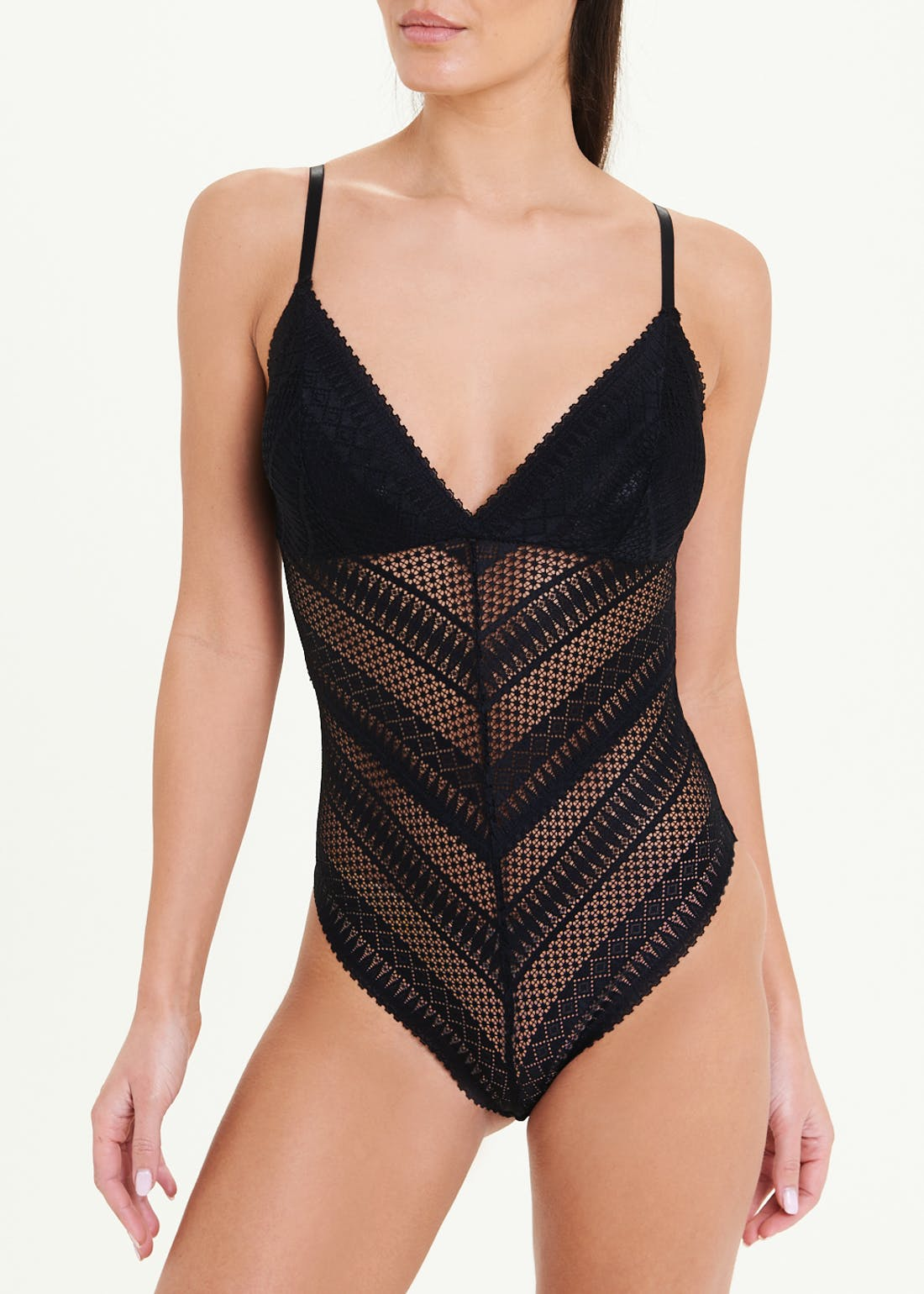 Linear Lace Bodysuit