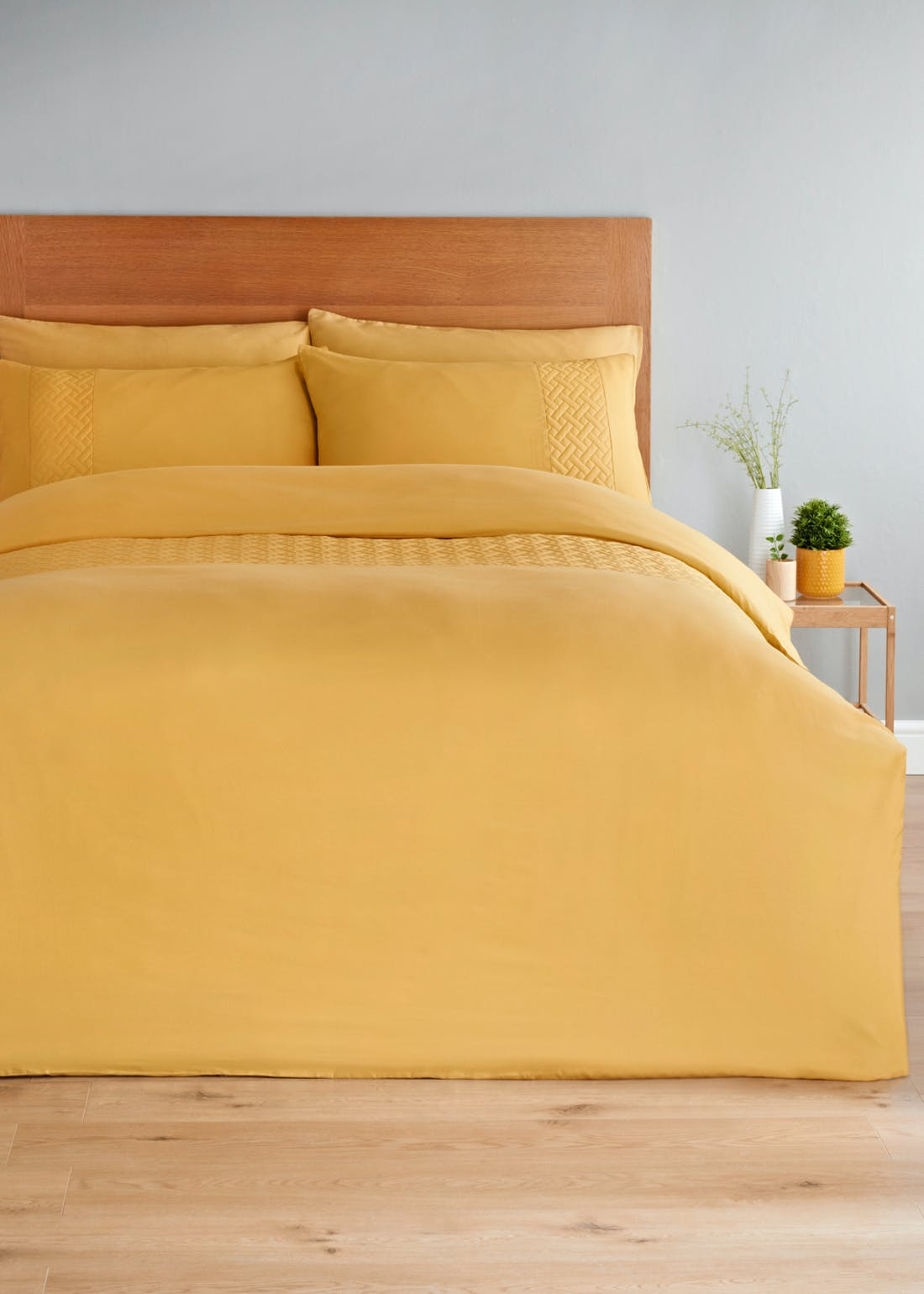 Pinsonic Panel Duvet Cover & Fitted Sheet Set