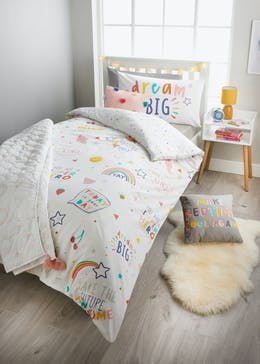 Kids Dream Big Duvet Cover (Single)