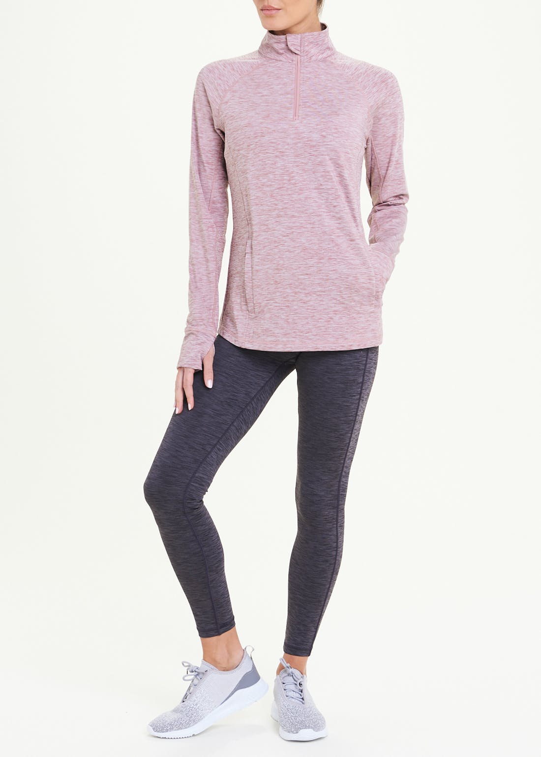 Souluxe Pink Fleece Lined Gym Sweatshirt