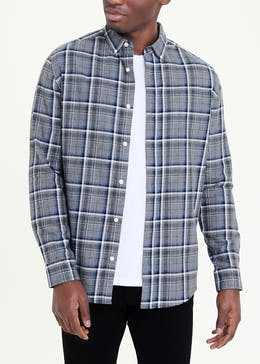 Long Sleeve Plaid Check Shirt