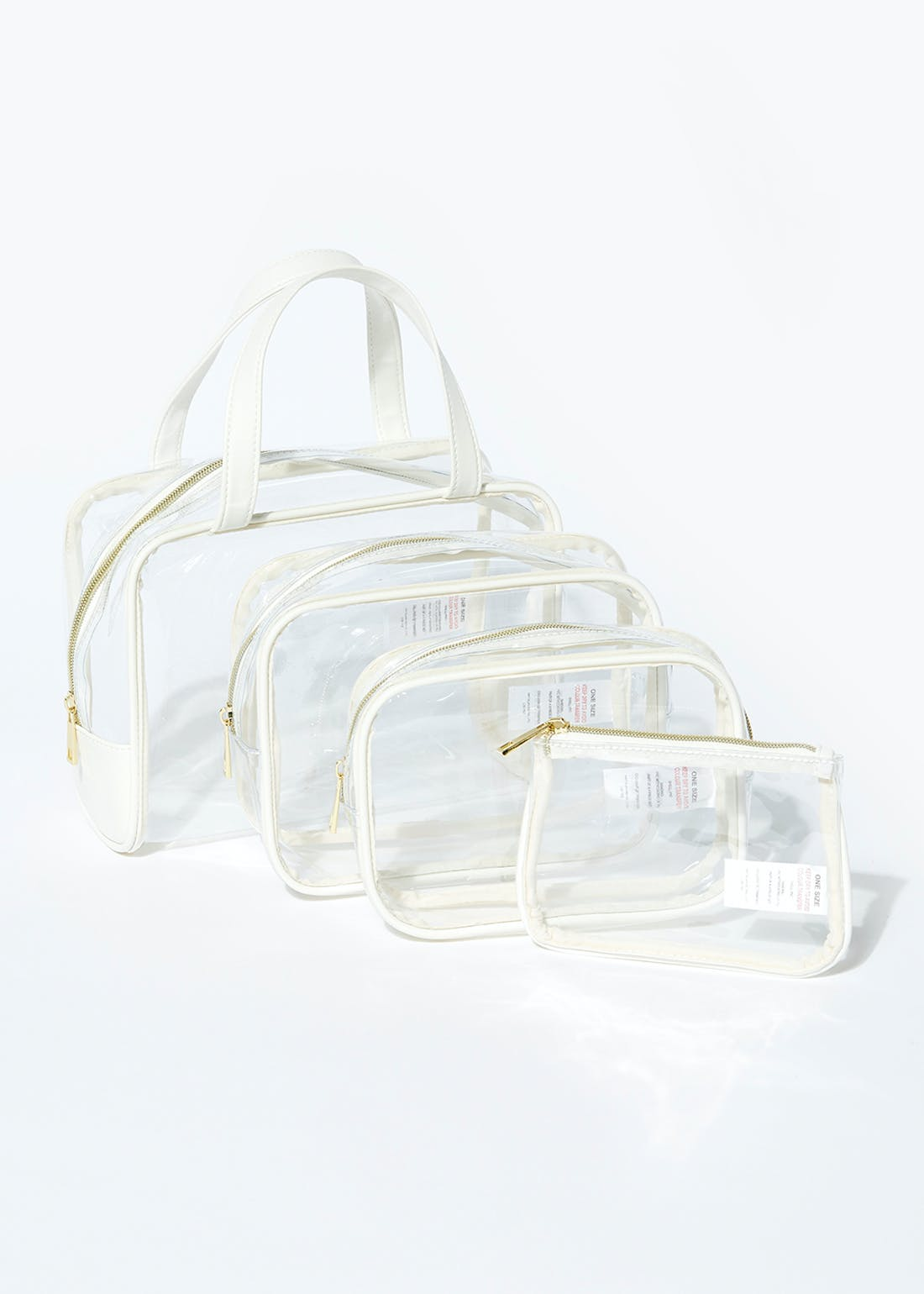 4 Pack Clear Travel Bags