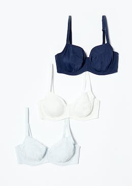 3 Pack DD+ Lace Mix Bras