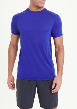 Souluxe Blue Basic Gym T-Shirt