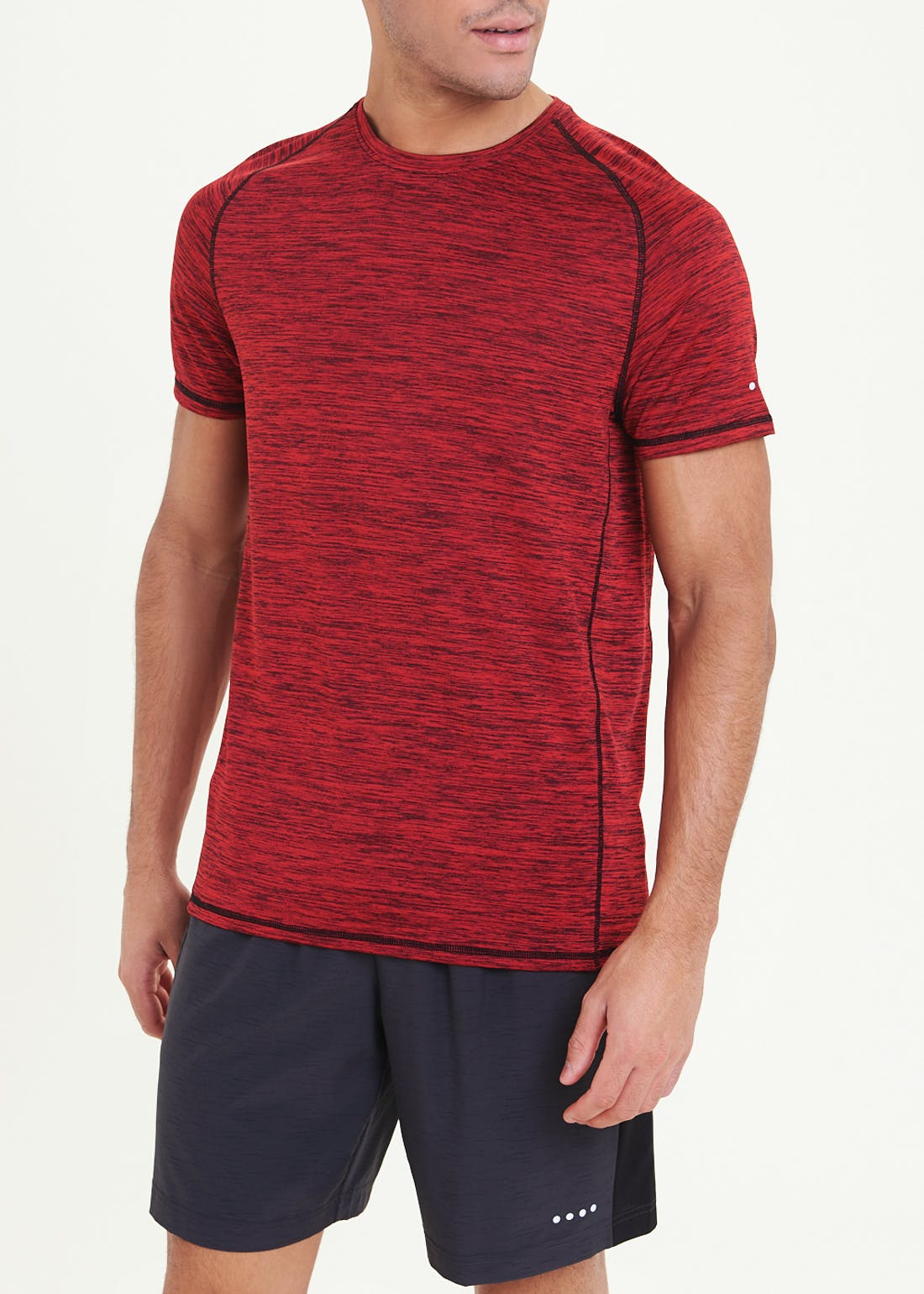 Souluxe Red Basic Gym T-Shirt