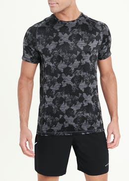 Souluxe Grey Printed Gym T-Shirt