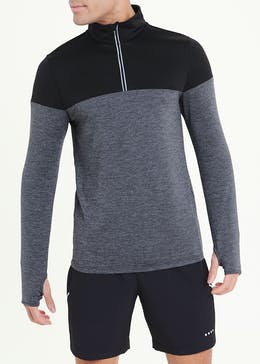 Souluxe Black Half Zip Running Top