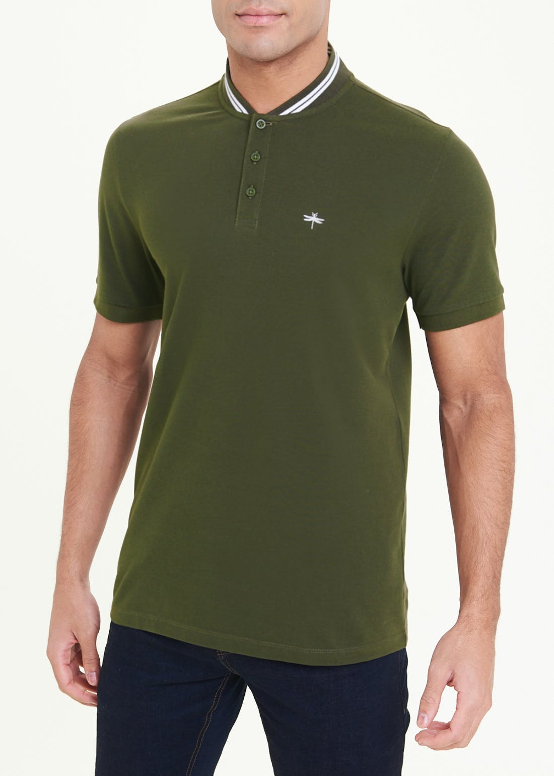 Grandad Collar Polo Shirt