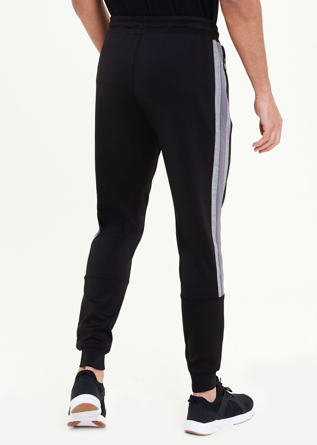 US Athletic Cuffed Check Panel Joggers