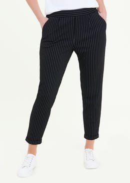Stripe Textured Tapered Leggings