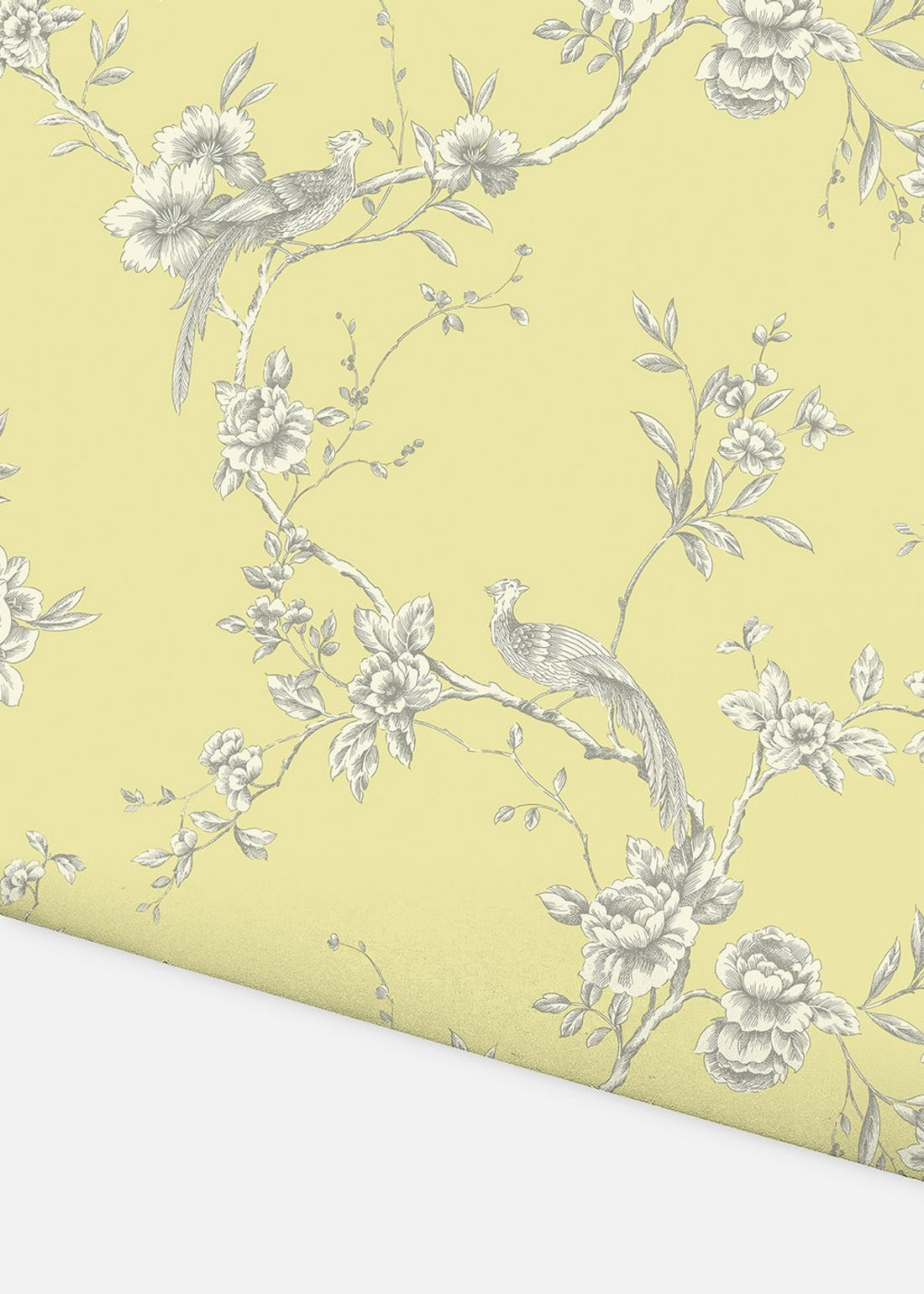 Arthouse Chinoise Yellow Floral Wallpaper (10.05m x 53cm)