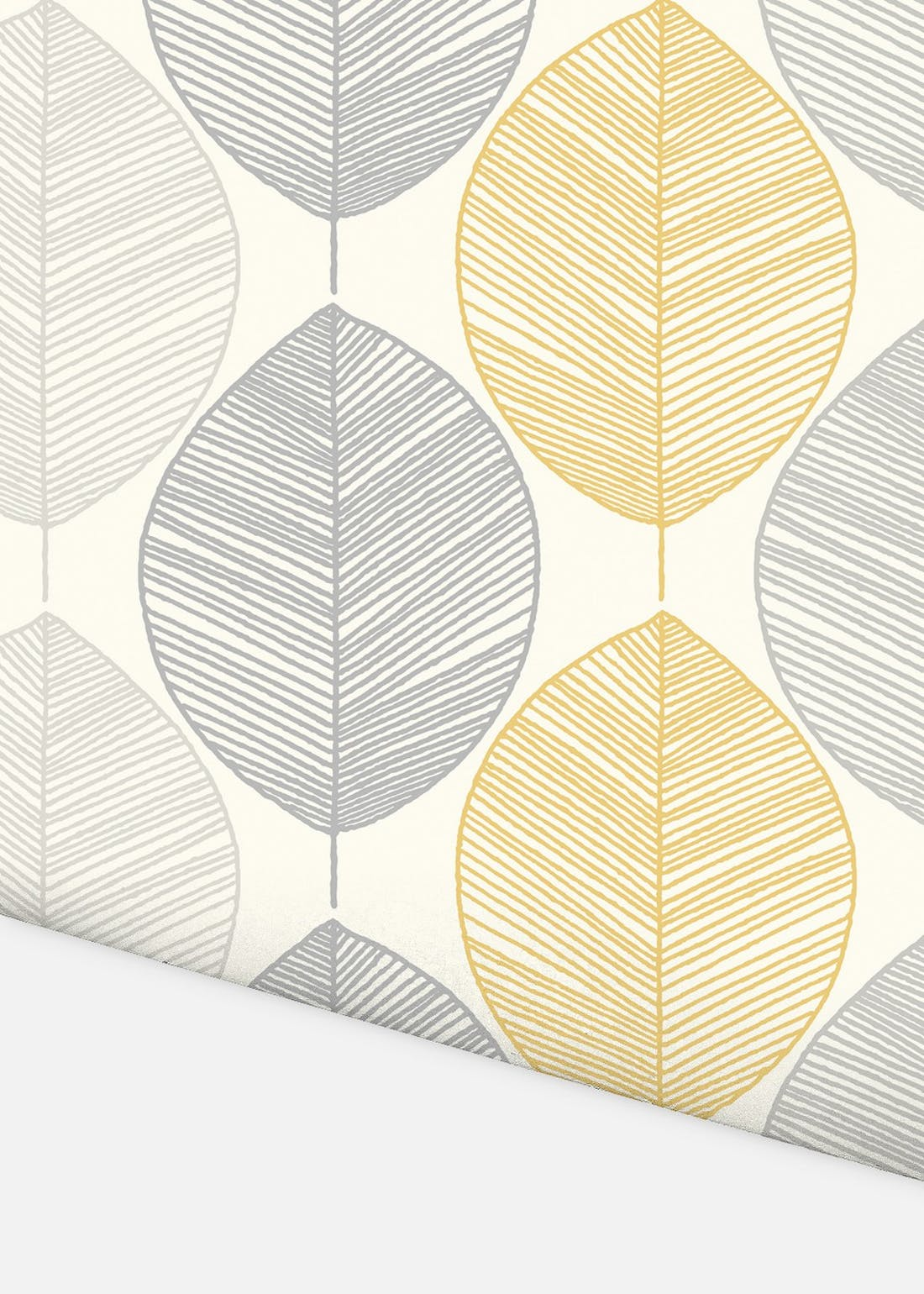 Arthouse Scandi Leaf Grey Wallpaper (10.05m x 53cm)