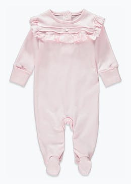 Girls Frill Baby Grow (Tiny Baby-9mths)